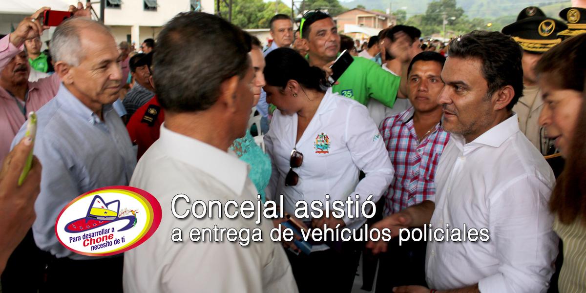 Concejal asistió a entrega de vehículos policiales