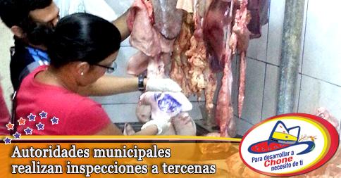 Autoridades municipales realizan inspecciones a tercenas
