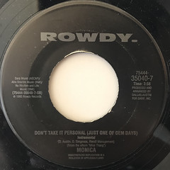 MONICA:DON'T TAKE IT PERSONAL(JUST ONE OF DEM DAYS)(LABEL SIDE-B)