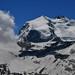 Le Nordend (4609 m) et la pointe Dufour (4634 m), deux sommets du mont Rose
