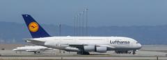 Lufthansa A-380 at KSFO