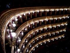 Interior of Royal San Carlo Theatre in Naples (1816-1817) - Architect Antonio Niccolini