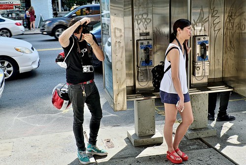 Payphone stand on Canal St