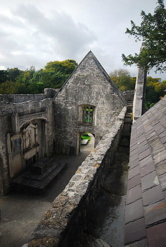Courtyard in Muckross Abbey in Killarney National Park in Ireland