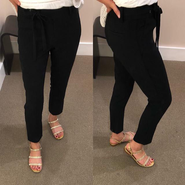 LOFT Slim Tie Waist Pants, size 24/00 petite