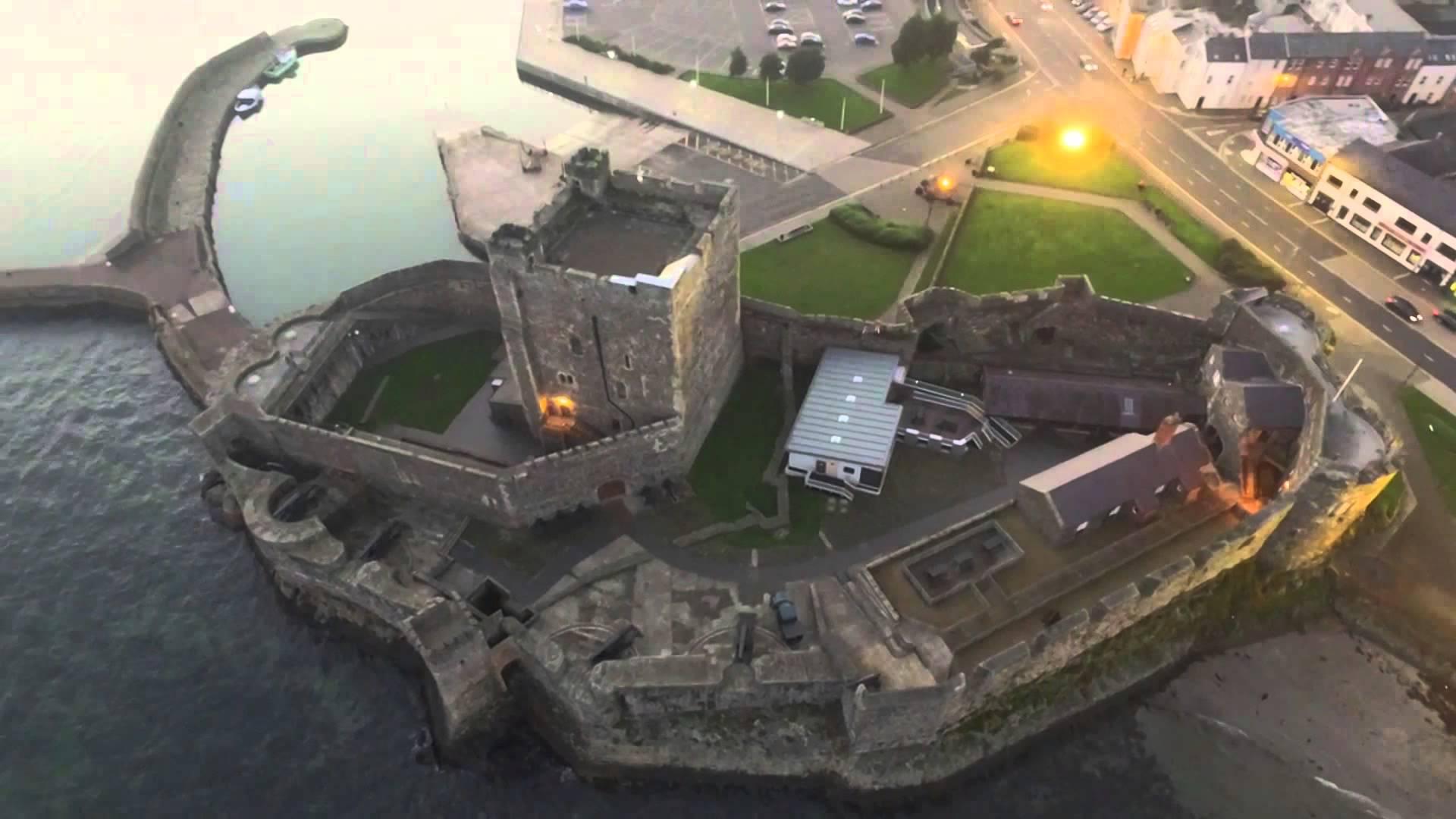 Aerial view of Carrickfergus Castle.
