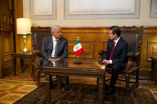 Reunión AMLO-Peña Nieto en Palacio Nacional (3 julio 2018)