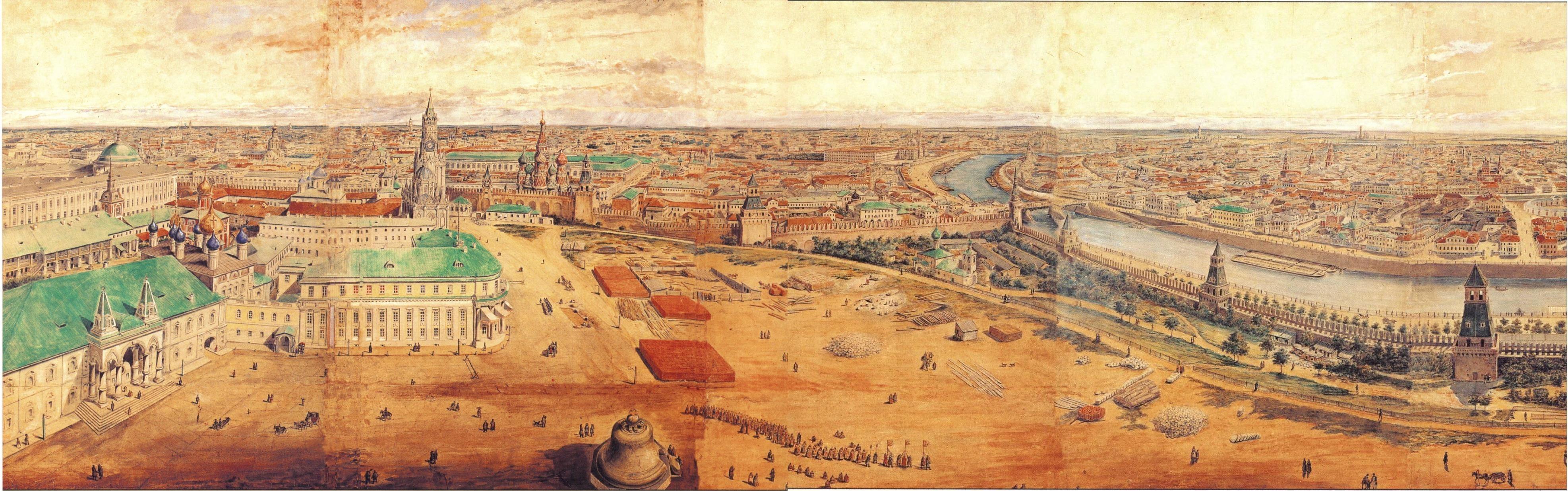 1845. Панорама Москвы и окрестностей