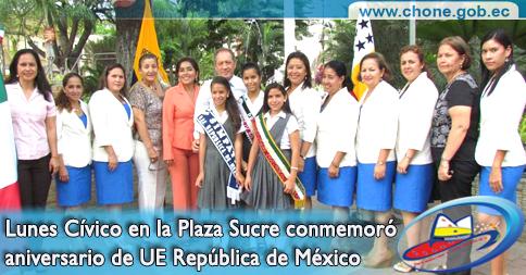 Lunes Cívico en la Plaza Sucre conmemoró aniversario de Unidad Educativa República de México