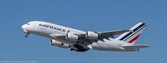 Air France A-380 leaving KSFO for Paris