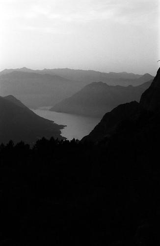bw mountain montenegro sea horizon summer daylight sunset kotor