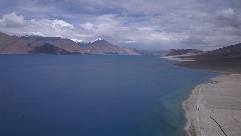 Pangong Tso, facing Tibet