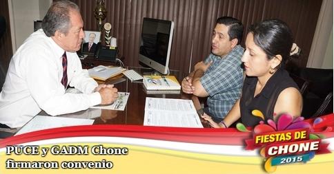 PUCE y GADM Chone firmaron convenio