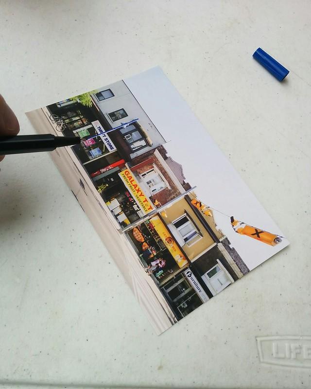 Drafting a postcard (1) #toronto #bloordale #bloorstreetwest #bigonbloor #streetfestival #postcard #latergram