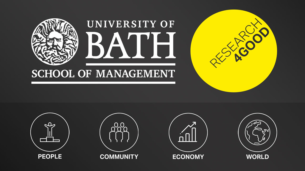 School of Management and Research4Good logos