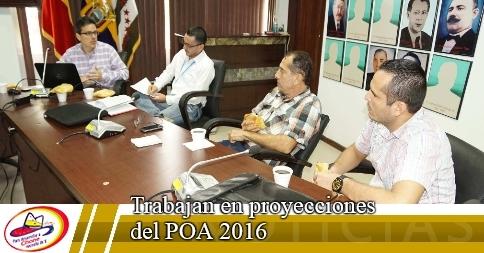 Trabajan en proyecciones del POA 2016