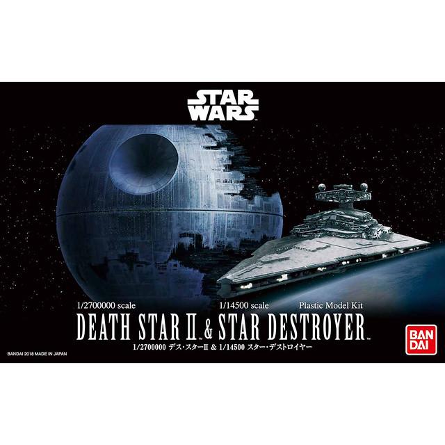 《星際大戰》組裝模型系列 「1/2,700,000 死星 Ⅱ&1/14,500 滅星艦」共同販售!1/2,700,000 デス・スターII & 1/14,500 スター・デストロイヤー