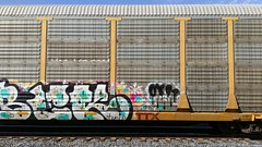 Train car graffiti