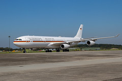 16+01, Airbus A340-313 Luftwaffe @ Black Forrest Airport LHA EDTL - Photo of Daubensand
