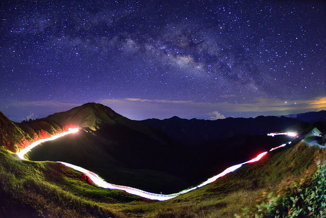 Milky way, Mountain Hehuan 合歡山銀河