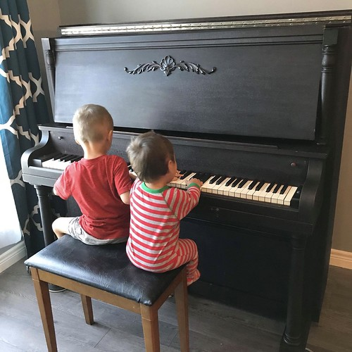 Wow! What a find! My daughter found a used piano for the boys