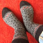 Retro Dream socks by Kat Knight