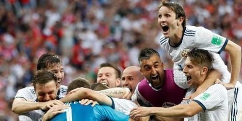 Rusia membuat sejarah Piala Dunia