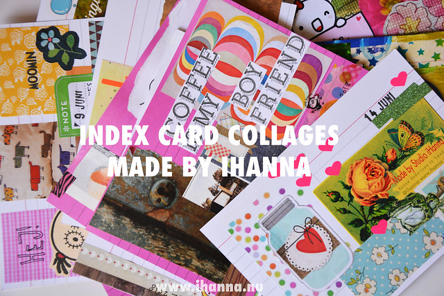 Playful Index Card Collages by iHanna | June 1-15