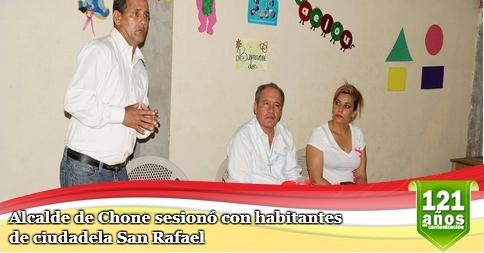 Alcalde de Chone sesionó con habitantes de ciudadela San Rafael