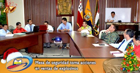 Mesa de seguridad toma acciones en ventas de explosivos