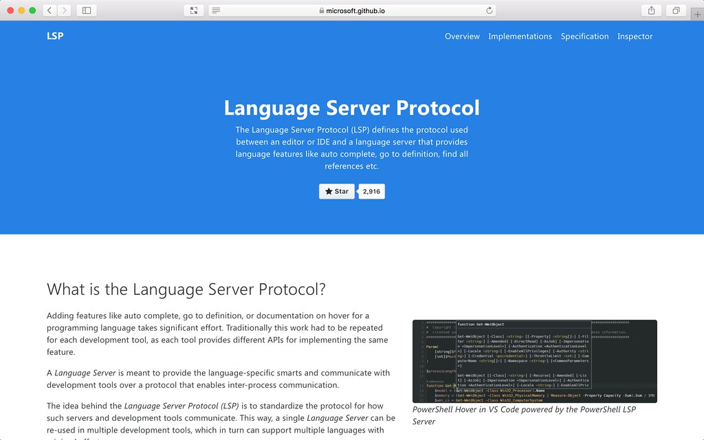 Language Server Protocol,