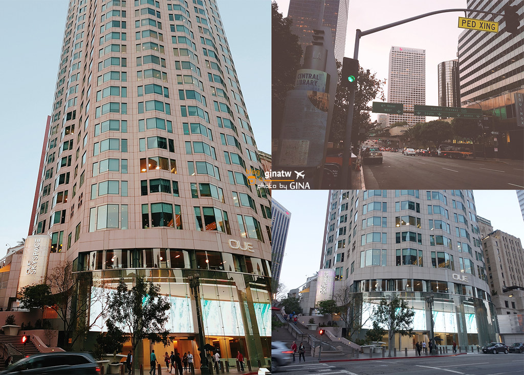 【洛杉磯自由行】Oue Skyspace線上門票|天空透明溜滑梯|聯邦銀行大廈U.S. Bank Tower+  LA市區景觀台景點 @GINA環球旅行生活|不會韓文也可以去韓國 🇹🇼
