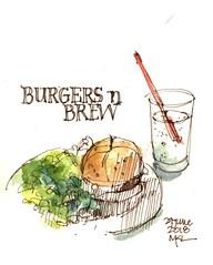 At Burgers and Brew