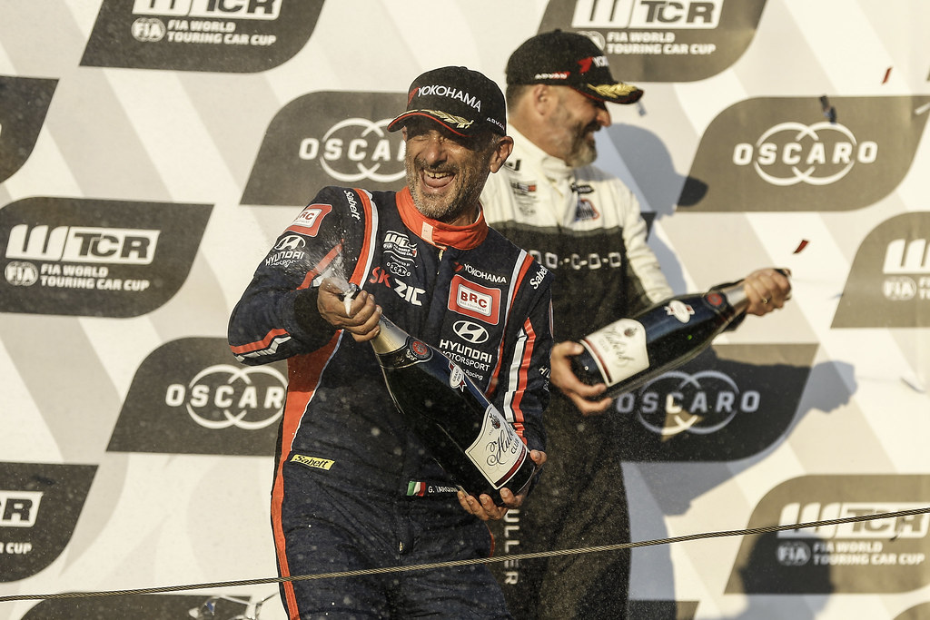 TARQUINI Gabriele, (ita), Hyundai i30 N TCR team BRC Racing, portrait, winner race 2 during the 2018 FIA WTCR World Touring Car cup race of Slovakia at Slovakia Ring, from july 13 to 15 - Photo Jean Michel Le Meur / DPPI