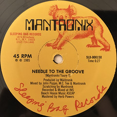 MANTRONIX:NEEDLE TO THE GROOVE(LABEL SIDE-A)