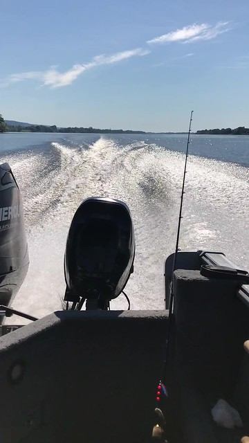 On a motor boat to the deeper part of Ottawa River to find catfish