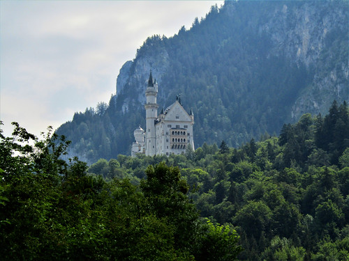view on Neuschwanstein Castle from Hohenschwangau