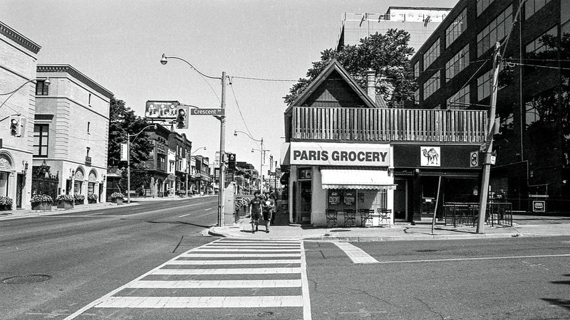 Paris Grocery and Crosswalk