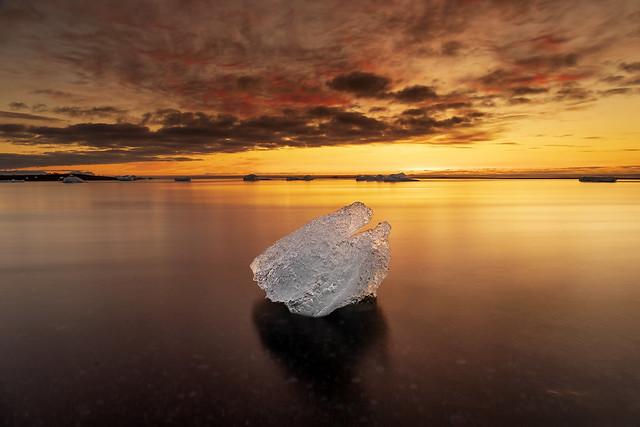 Iceberg at Sunrise, Diamond Beach, Jökulsárlón, Iceland