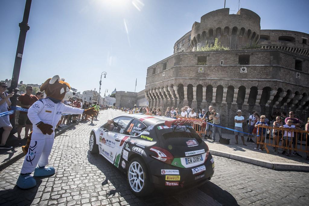 23 Marco Pollara (ITA), Giuseppe Princiotto (ITA), F.P.F.Sport Srl, PEUGEOT 208 T16, during the 2018 European Rally Championship ERC Rally di Roma Capitale,  from july 20 to 22 , at Fiuggi, Italia - Photo Gregory Lenormand / DPPI