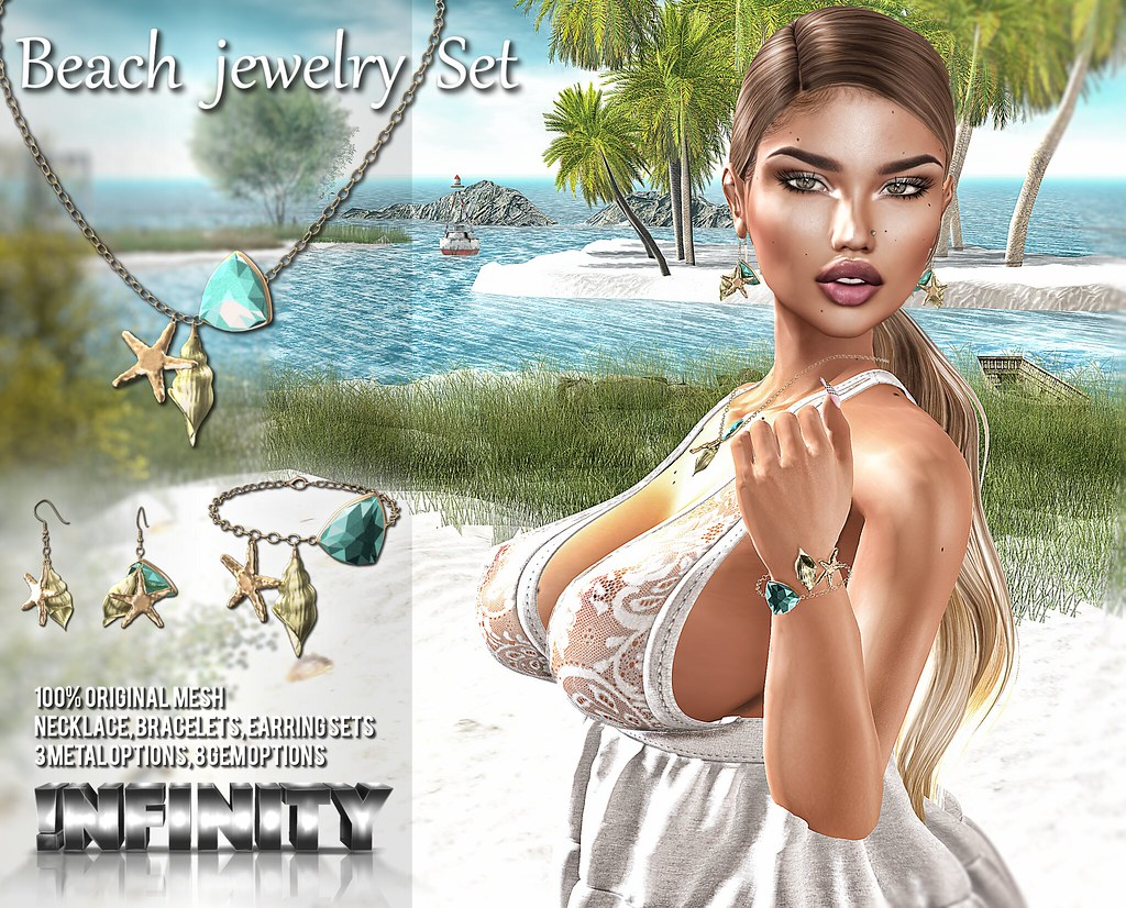 !NFINITY Beach Jewelry Set @ Mermaid Cove