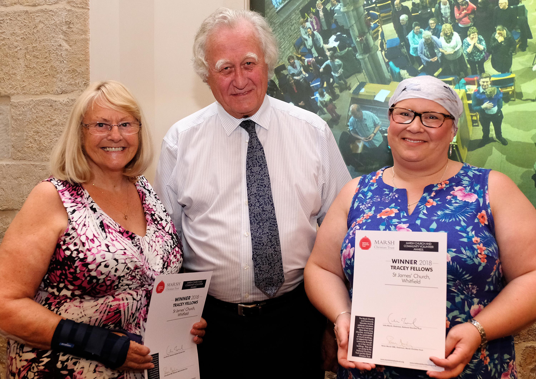 Joyce Phillips, Brian Marsh, Tracey Fellows (c Mike Swift)