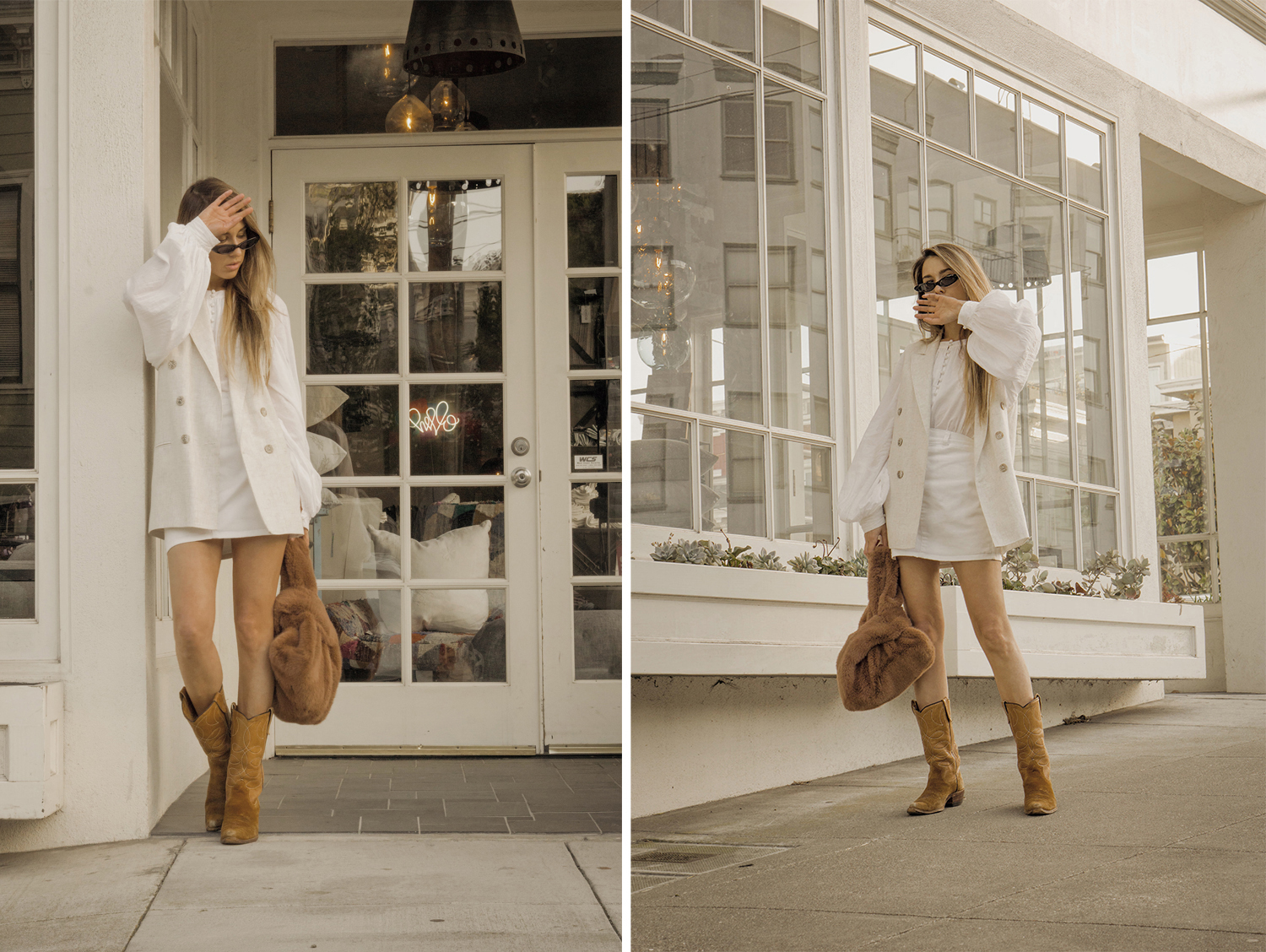 total_all_white_outfit_look_street_style_western_boots_isabel_marant_inspired_fur_bag_vest_denim_skirt_summer_2018_trend_lena_juice_the_white_ocean_02