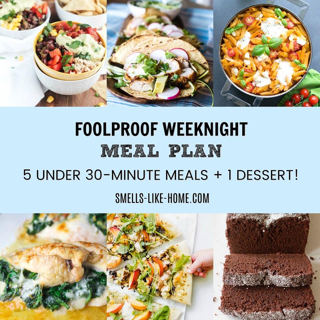 Foolproof Weeknight Meal Plan – Week 3