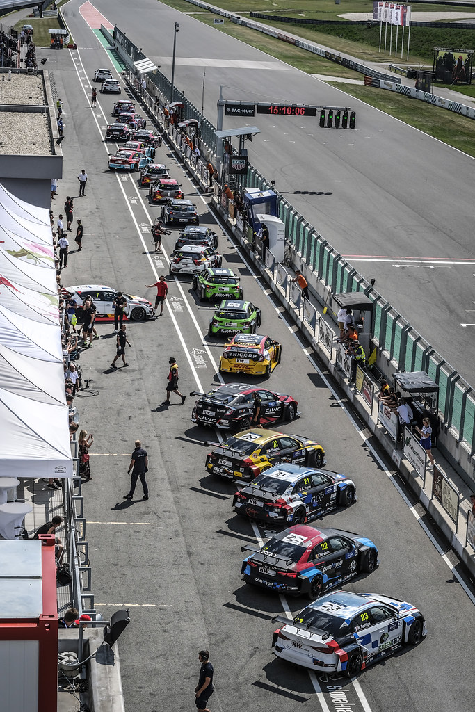 pit lane during the 2018 FIA WTCR World Touring Car cup race of Slovakia at Slovakia Ring, from july 13 to 15 - Photo François Flamand / DPPI.