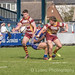 Harry Davy with a slick offload for Lewis Workman -8455
