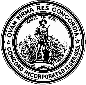 Concord, Massachusetts town seal.