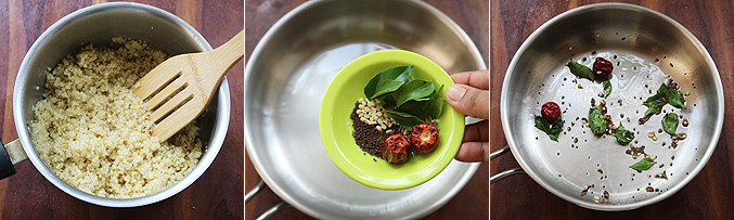 How to make quinoa sundal recipe - Step1
