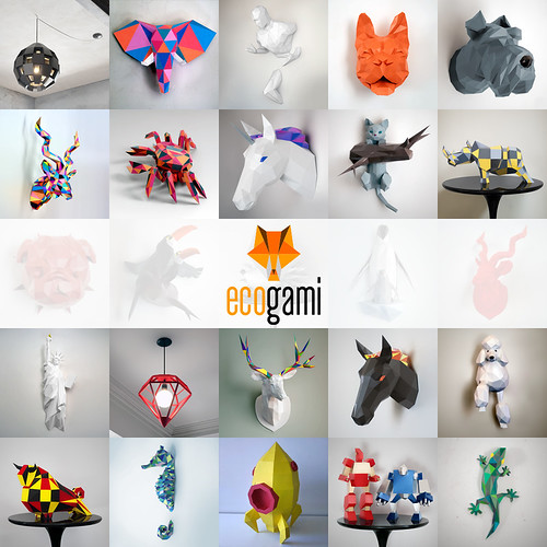 Ecogami Paper Trophy Models
