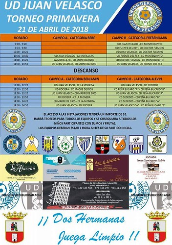 Cartel Torneo de Primavera de la UD Juan Velasco